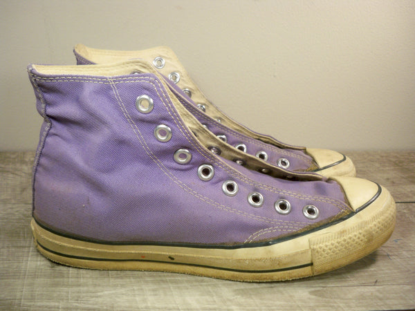 Vintage CONVERSE Chucks All Star Purple Canvas High Top Men's Shoes Sneakers Kicks Size 7