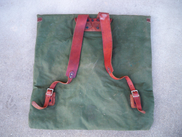 Vintage Portage Pack BWCA Leather Canoe Backpack Bag School Knapsack Pack Rucksack
