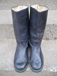 "12"" Vintage Leather Motorcycle Engineer Chopper Riding Mens Pull-On Soft Toe Boots Size 10 US"