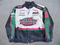 JH Designs Interstate Batteries Bobby Labonte Racing Race Car Leather Coat Size XXL