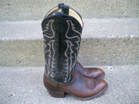 Tony Lama #6171 Shoulder Bullhide Cowboy Western Pull On Men's Boots Size 7 Wide