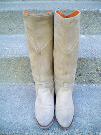 Frye Beige 77562 Dorado Riding Leather Motorcycle Tall Women's Chopper Boots Size 6
