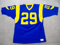 Vintage Eric Dickerson Sand-Knit LA Los Angeles Rams Football Uniform Jersey Size XL