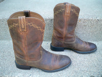 Ariat #10000797 Women's Distressed Leather Heritage Roper Cowboy Western Boots Size 10