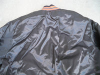 Vintage Cincinnati Bengals NFL Satin Nylon Chalk Line Made in USA Brown Jacket Coat Size Xlarge