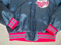 Vintage Chalk Line Minnesota Twins MLB Baseball Men's Jacket Coat Size Large Made in USA