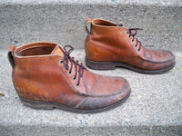 Vintage GOKEYS? Botte Sauvage brown leather Men's Chukka / Hunting Men's Boots 9.5