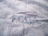 Vintage US Army Post WWII Era Stenciled FCDA Gray Wool Blanket Federal Civil Defense Administration