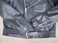 Vintage Floodland Collection Motorcycle Biker Riding Chopper Riding Men's Jacket Coat Size 46