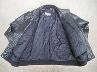 Vintage Harley-Davidson Black Leather Cafe Racer Motorcycle Men's Biker Riding Jacket 42