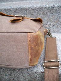 Lifewit Leather & Cotton Brown Rustic Scholar Attorney Lawyer Messenger Cross Body Shoulder Bag Pack