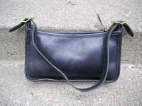 J W Hulme Black Leather Cross Body Zip Purse Shoulder Hand Bag Pack