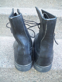 Vintage Dated 80's Combat Trench Steel Toe Military Biker Men's Boots Size 11