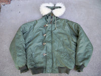 US Army Military Parka Jacket Coat Extreme Cold Weather N-2B Snorkel Size M