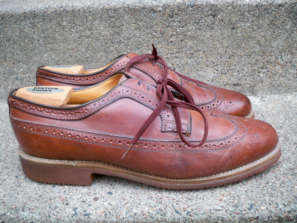 Dexter Made in USAl Wingtips Oxfords Shoes Shell Leather Brown Vintage Size 11.5