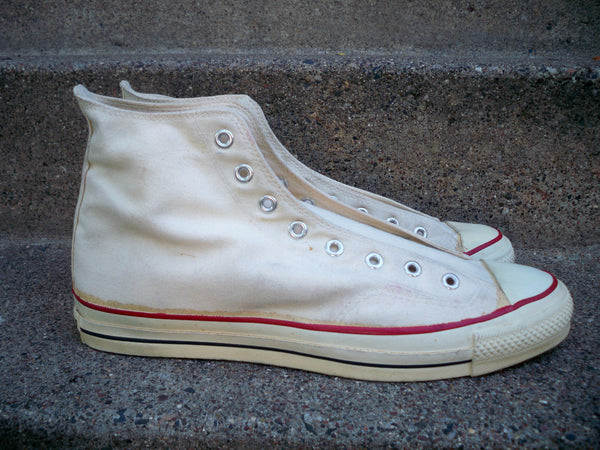 Vintage Converse All Star High Top Tan Canvas Mens Sneakers Shoes Hipster Kicks 13.5