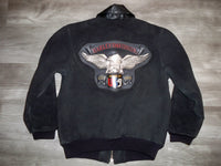 Vintage Harley-Davidson Motorcycle USA MADE Leather Coat Jacket Women's Size 10