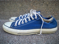 Vintage CONVERSE All Star Blue Made in USA Low Top Sneaker Shoes Kicks 12