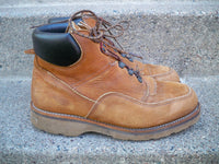 Vintage Red Wing Ankle Work Hunting Nubuck Leather Moc Soft Toe Boots Size 9.5