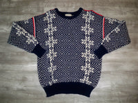Vintage LL L.L. Bean Norwegian Nordic Norway Crewneck Sweater Snowflake Men's Size M
