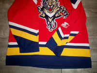 Vintage Florida Panthers 90s Starter NHL Hockey Stitched Jersey Uniform Size Large