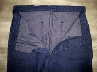 Vintage US Navy Denim Dungarees Jeans Sailor Military Utility Button Fly RARE Size 32 X 29