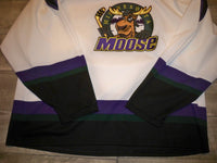 Vintage Bauer Minnesota Moose Hockey Pro Jersey Stitched Uniform Size Adult XL