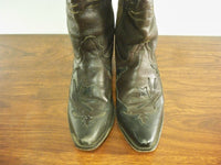 Justin 9758 Bent Rail Western Cowboy Pull On Leather Women's Boots 8.5