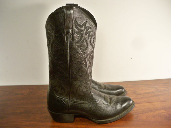 Ariat #34770 Men's Deertan Leather Heritage Western R Toe Cowboy Boots Size 8.5