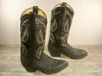 Vintage Tony Lama #6250 Shrunken Shoulder Leather Cowboy Western Boots Men's Size 7