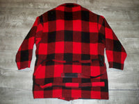 Vintage Woolrich Buffalo Plaid Wool Hunting Barn Field Coat Jacket Women's Large