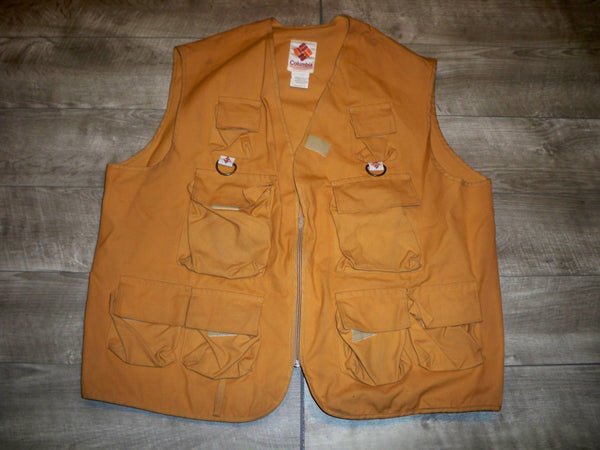 Vintage Columbia Sportswear Hunting Vest Mens Duck Pheasant Bird Hunting Size XLarge