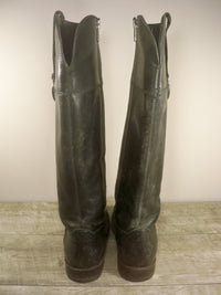 FRYE Jamie Ring Tall 76222 Black StoneWashed Leather Women's Boots Size 6.5