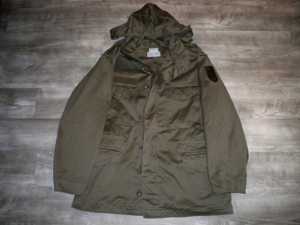 Austrian Military Field Hooded Coat Jacket Vintage Olive Green Men's Size 104-108 Large US