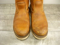 Red Wing 866 Men's Traction Tred Crepe Pull-On Oro-iginal Leather Soft Toe Boots 7.5