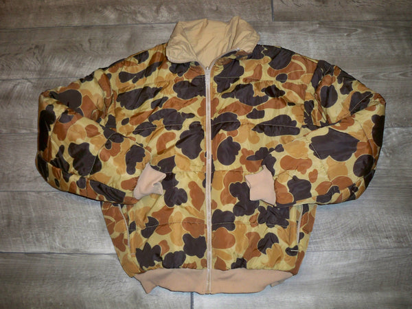 Vintage 90's Columbia Gore-Tex Puffer Men's Duck Hunter Camo Hunting Jacket Size Small
