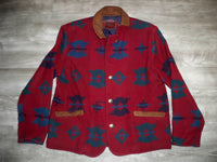 Vintage Woolrich Southwestern Made in USA Wool Women's Jacket Coat Size Large