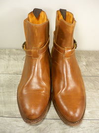 Frye 77354 Dorado Chelsea Women's Brown Leather Harness Boots Booties Size 9