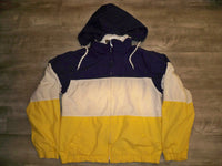 Vintage Eddie Bauer Sailing Windbreaker Color Block Jacket Coat Men's Size Medium
