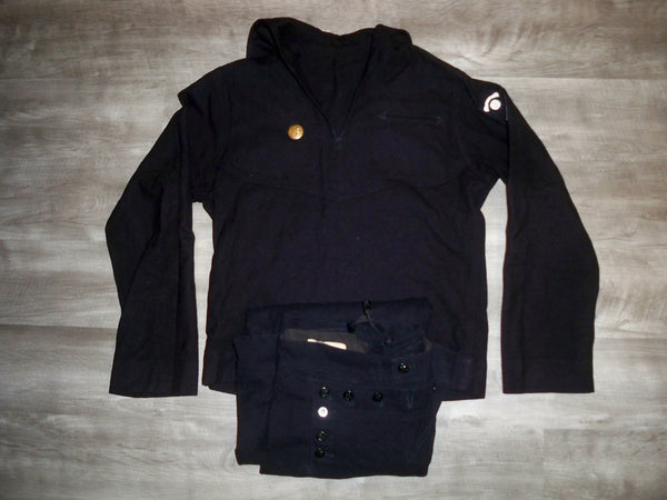 Vintage Mens US Navy Military Sailor Uniform Jumper Crackerjack Jacket & Pants Size 36