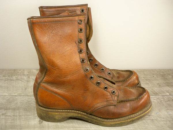 Vintage Red Wing Irish Setter Women's Hunting Work Motorcycle Leather Soft Toe Crepe Sole Boots 6.5