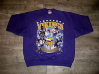 Vintage 90s Minnesota Vikings Football Hanes BIG LOGO Sweatshirt Size XLarge