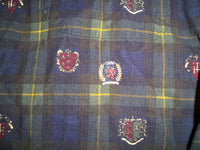 Vintage 90s TOMMY HILFIGER Crest Logo Preppy Button Down Shirt Men's Size XLarge.