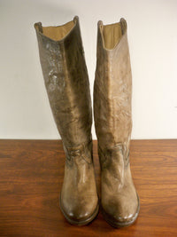 FRYE Women's # 77207 Carson Tab Tall Western Stacked Heel Knee-High Boots Size 6