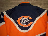 90s Apex One Pro Line Authentic Chicago Bears Jacket Parka Coat Size XL XLARGE