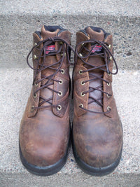 "6"" Red Wing #4421 MEN'S Flexbond Crazyhorse Leather Work Steel Toe Boots Size 9"