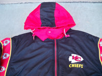 Vintage Kansas City Chiefs Reversible Pro Player Football Parka Jacket Coat Mens LG