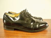 Cole Haan Black Leather Men's Oxfords Wing Tips Lace Up Dress Shoes Size 11 M