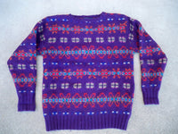 Vintage Polo Ralph By Lauren Mens XOXO Hugs & Kisses Crewneck Sweater Size Small