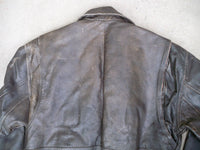 Vintage Wilsons Leather Men's Distressed Brown Chopper Bomber Flight Jacket Medium